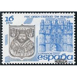 1984 Spanien 2622 Burgos  ** Perfekter Zustand  (Michel)