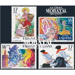 1984 Espagne 2357/2390  Fêtes Populaires I Fêtes **MNH TTB Très Beau  (Yvert&Tellier)