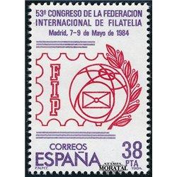 1984 Spanien 2632 Föderation internationale Philatelie Ausstellung ** Perfekter Zustand  (Michel)