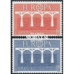 1984 Spanien 2633/2634  Europa Europa ** Perfekter Zustand  (Michel)