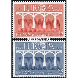 1984 Espagne 2367/2368  L'Europe Europe **MNH TTB Très Beau  (Yvert&Tellier)