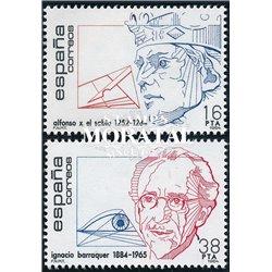 1984 Espagne 2373/2374  Centenaires Personnalités **MNH TTB Très Beau  (Yvert&Tellier)