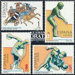 1984 Espagne 2383/2386  J.J.O.O. Angeles Sportif **MNH TTB Très Beau  (Yvert&Tellier)
