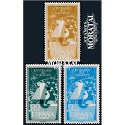 1955 Spain 839/841  Telegraph  **MNH Very Nice  (Scott)