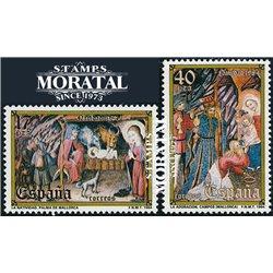 1984 Espagne 2395/2396  Noël Noël **MNH TTB Très Beau  (Yvert&Tellier)
