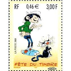 2001 France  Sc# 2802  ** MNH Very Nice. Stamp Day (Scott)  Comics