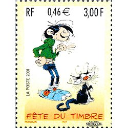2001 France  Sc# 2802  ** MNH Very Nice. Stamp Day (Scott)  Comics