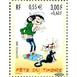 2001 France  Sc# 2803  ** MNH Very Nice. Stamp Day (Scott)