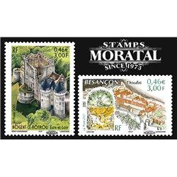 2001 France  Sc# 2813/2814  ** MNH Very Nice. Châteaux Nogent-le-Rotrou (Scott)  Europe