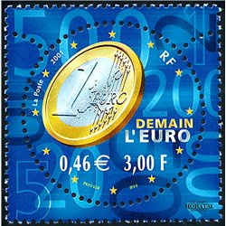 2001 France  Sc# 2830  ** MNH Very Nice. The euro (Scott)