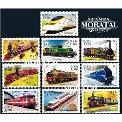 2001 France  Sc# 2833a/2833j  ** MNH Very Nice. Locomotives (Scott)  Castles