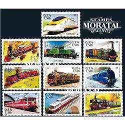 2001 Frankreich Mi# 3545/3554  ** Perfekter Zustand. Lokomotiven (Michel)  Schlösser