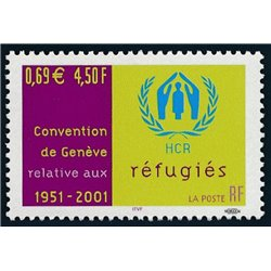 2001 France  Sc# 2834  ** MNH Very Nice. Refugee Convention (Scott)  Generic Series