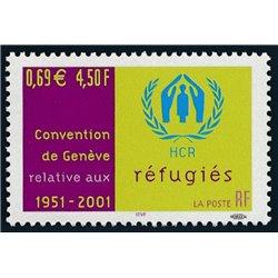 2001 Frankreich Mi# 3556  ** Perfekter Zustand. Flüchtlingskonvention (Michel)  Serie Gene