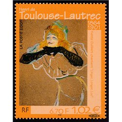2001 France  Sc# 2800  ** MNH Very Nice. Touleuse-Lautrec (Scott)