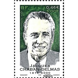 2001 France  Sc# 2843  ** MNH Very Nice. Jacques Chaban-Delmas (Scott)  Personalities