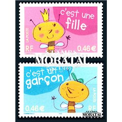 2002 France  Sc# 2874/2875  ** MNH Very Nice. good wishes (Scott)