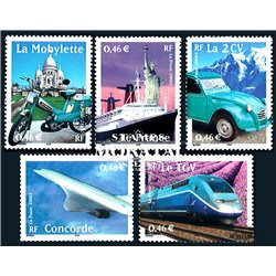 2002 France  Sc# 2881a/2881e  ** MNH Very Nice. The 20th Century (Scott)