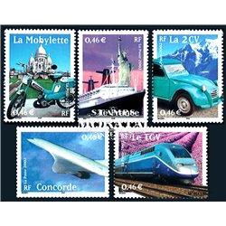 2002 Frankreich Mi# 3608/3612  ** Perfekter Zustand. 20. Jahrhundert (Michel)