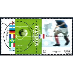 2002 France  Sc# 2891a/2891b  ** MNH Very Nice. World Cup Soccer Championship (Scott)  Fauna