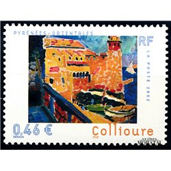 2002 France  Sc# 2885  ** MNH Very Nice. Collioure (Scott)  Monastery-Tourism