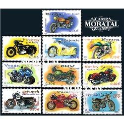 2002 Frankreich Mi# 3645/3654  ** Perfekter Zustand. Motorräder (Michel)  Persönlichkeiten