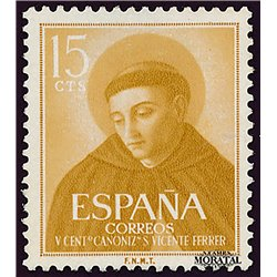 1955 Spain  Sc 842 San Vicente Ferrer Religious **MNH Very Nice, Mint Hever Hinged?  (Scott)