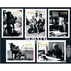 2002 France  Sc# 2915a/2915e  ** MNH Very Nice. The 20th Century (Scott)