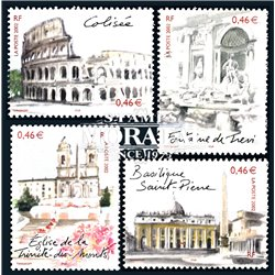 2002 France  Sc# 2917a/2917d  ** MNH Very Nice. Rome (Scott)  Red Cross