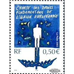 2003 Frankreich Mi# 3695  ** Perfekter Zustand. Letter of Rights U.E. (Michel)  Europa