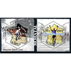 2003 France  Sc# 2968a/2968b  ** MNH Very Nice. Tour de France (Scott)  Sport