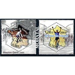 2003 France  Sc# 2968a/2968b  ** MNH Very Nice. Tour de France (Scott)  Sport