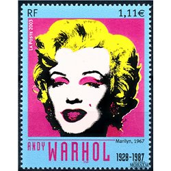 2003 France  Sc# 2950  ** MNH Very Nice. Marilyn.- Andy Warhol (Scott)  Art