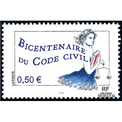 2004 France  Sc# 3005  ** MNH Very Nice. Civil Code (Scott)  Personalities