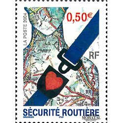 2004 France  Sc# 3011  ** MNH Very Nice. Road safety (Scott)  Personalities
