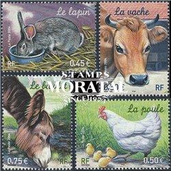 2004 Frankreich Mi# 3805/3808  ** Perfekter Zustand. Bauernhoftiere (Michel)  Europa