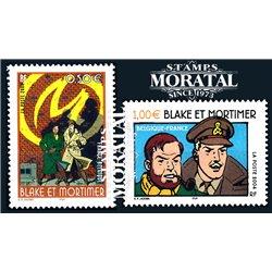 2004 France  Sc# 3026/3027  ** MNH Very Nice. Comic Blake y Mortimer (Scott)  Comics
