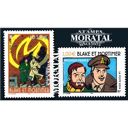 2004 France  Sc# 3026/3027  ** MNH Very Nice. Comic Blake y Mortimer (Scott)  Comics