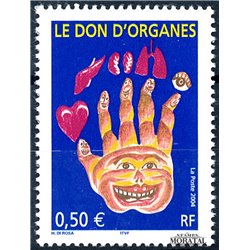 2004 France  Sc# 3031  ** MNH Very Nice. Donation of Organs (Scott)