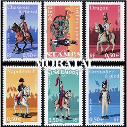 2004 France  Sc# 3033/3038  ** MNH Very Nice. Imperial Guard Uniforms (Scott)  Philately