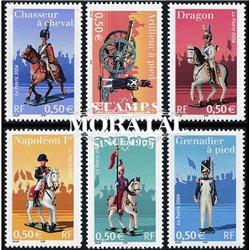 2004 Frankreich Mi# 3823/3828  ** Perfekter Zustand. Kaiserliche Garde Uniformen (Michel)  Philatelie