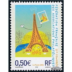 2004 France  Sc# 3039  ** MNH Very Nice. French Federation of Philatelic (Scott)  Sport
