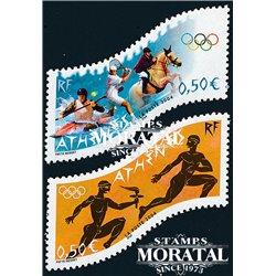 2004 France  Sc# 3040/3041  ** MNH Very Nice. O.G.  Athens 04 (Scott)  Sport