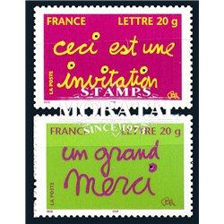 2005 Frankreich Mi# 3911I/3912I  ** Perfekter Zustand. Glückwünsche (Michel)  Persönlichkeiten