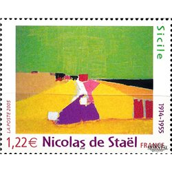 2005 France  Sc# 3100  ** MNH Very Nice. Nicolas de Staël (Scott)  Flora