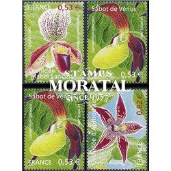 2005 France  Sc# 3102/3105  ** MNH Very Nice. Orchids (Scott)  Tourism