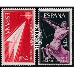 1956 Spain  Sc E21/22 Allegories Historical events **MNH Very Nice, Mint Hever Hinged?  (Scott)