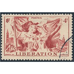 1945 France  Sc# 559  (o) Used, Nice. Alsace and Lorraine (Scott)  Tourism