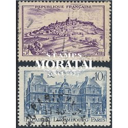 1946 France  Sc# 568/569  (o) Used, Nice. Sites and Monuments (Scott)  Tourism