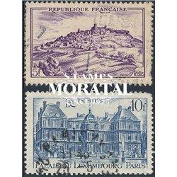 1946 Frankreich Mi# 756/758  (o) Gebrauchte, Zustand. Stätten und Denkmäler (Michel)  Tourismus